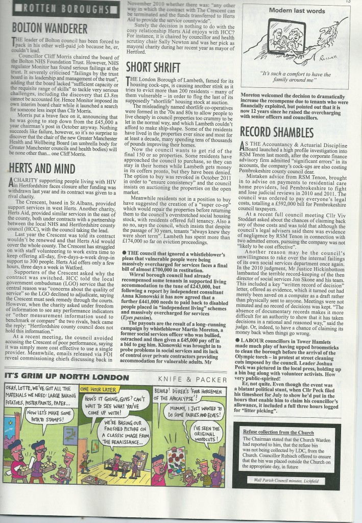 Private Eye 5th Sep 2012 Shortlife