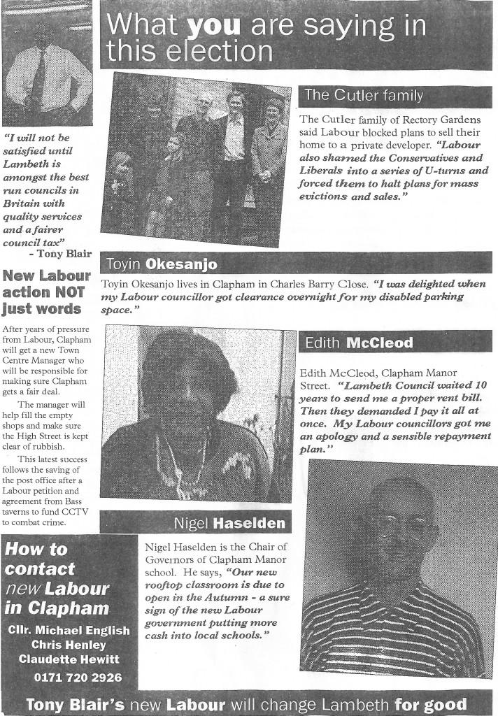 Labour Leaflet c.1998a 1 copy